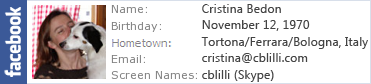 Cristina's Facebook profile